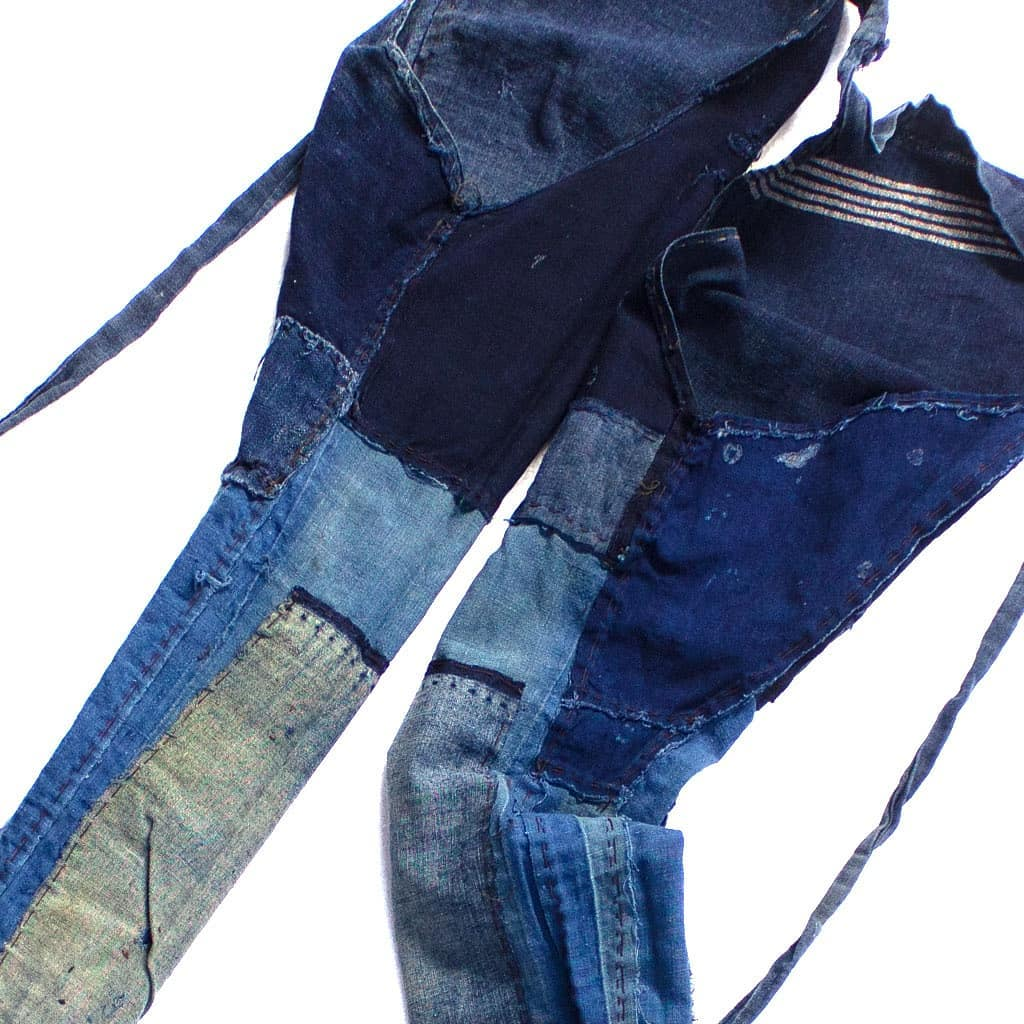 Japanese indigo patchwork farmer's pants