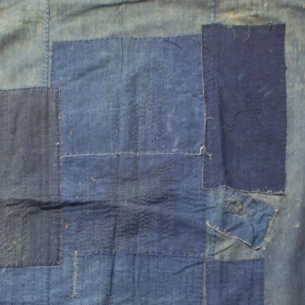 Large indigo furoshiki wrapping cloth