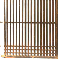 Pair of Machiya Exterior Panels | Japanese Cedar Architectural Panel | Screen