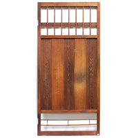Ranma Carved with Crane and Pine | Japanese Transom Screen | Sugi (Japanese Cedar) | Japanese Architectural Decor