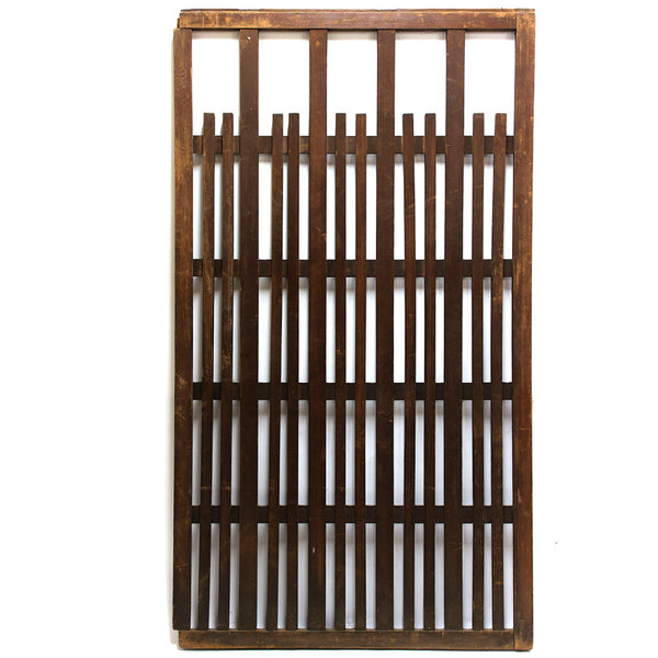 wooden panel with slats