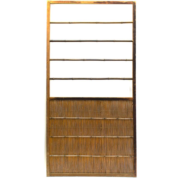 Single Sugi Yoshido Door | Japanese Cedar and Bamboo Wooden Doors for Summer