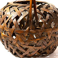 Large Japanese Bamboo Ikebana Flower Basket