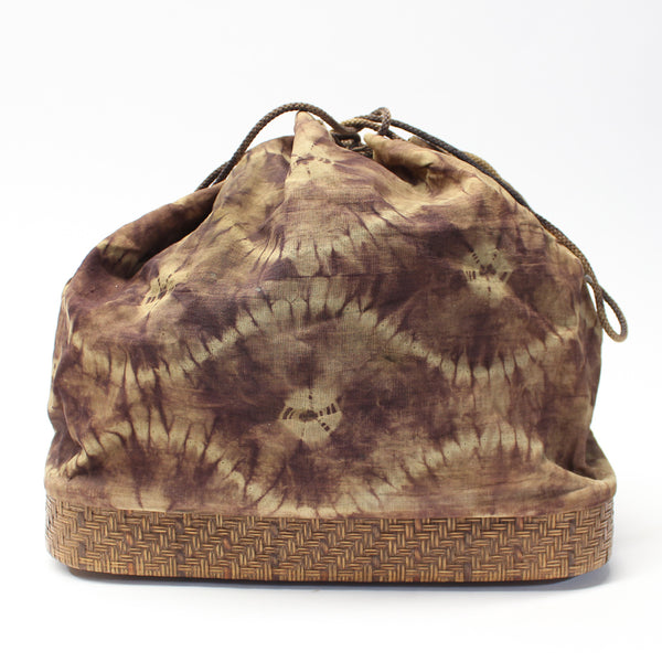 Japanese Basket Bag with Shibori