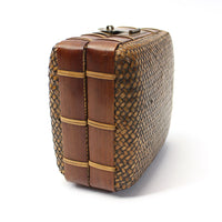 Japanese Antique Bamboo Woven Bento Basket