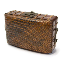 Japanese Antique Bamboo & Rattan Woven Bento Basket