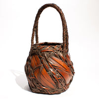 Bamboo Basket with Rope Style Handle