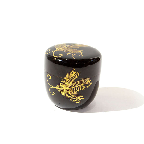 Black Lacquered Pine Natsume Tea Ceremony Japanese Art