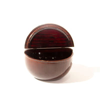 Lacquered Natsume With Hinged Lid