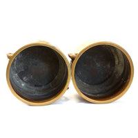 Japanese Bronze Hibachi Pair