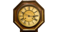 Beautiful Japanese Antique Wall Clock Octagonal Pendulum