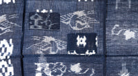 closeup of reverse heron pattern and patches