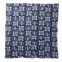 Indigo Kasuri Futonji with Bamboo & Flower Pattern