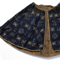 Indigo Kasuri Cape with Katazome Shibori Interior
