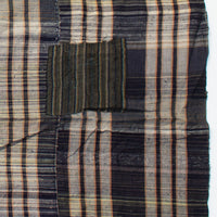 Indigo Kasuri - Shima  Futonji with Plaid Pattern