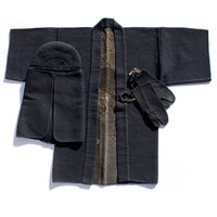 Shishi Antique Japanese Sashiko Fireman's Set