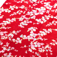 Women's Kimono w/ White, Black and Pink Flowers
