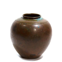 Japanese Antique Bronze Vase Blue Patina