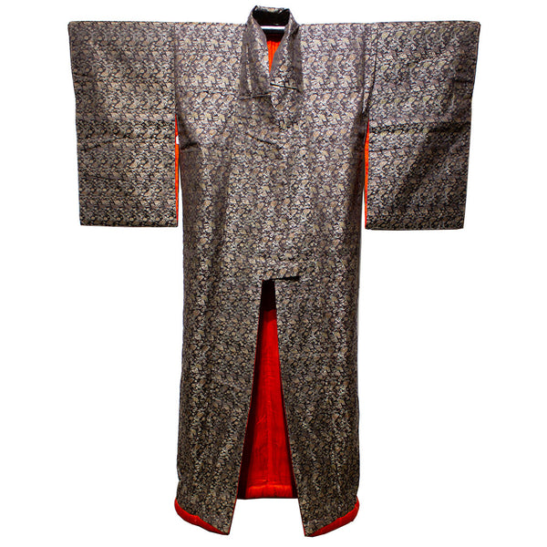 Uchikake black/gold w/red lining