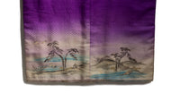 closeup of hemline with painted nature scene