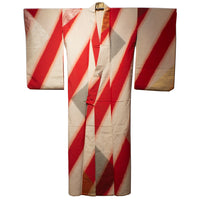 Meisen Kimono with Gold & Silver Details in Geometric Pattern