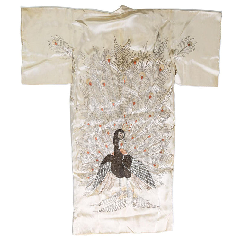 products/K-0510_Japanese_Embroidered_Ivory_Silk_Peacock_Kimono_and_a_Japanese_Black_Silk_01.jpg