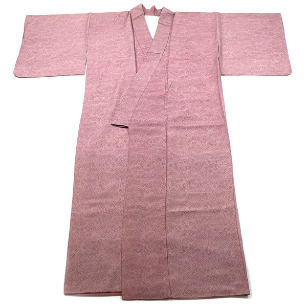 Pink Silk Kimono with Flower Design