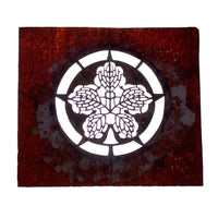 Japanese Motif Lacquered Paper Stencil Crest