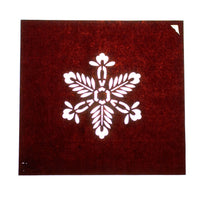 Japanese Motif Lacquered Paper Stencil