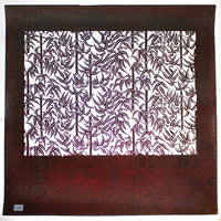 Katagami  Japanese Lacquered Paper Stencil