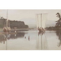 Framed Hand-tinted Meiji Era Photograph | Fujiyama From Tagonoura Suruga | Japanese Antique Photography | Albumin Photography | Japanese Decor