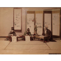 Framed Hand-tinted Meiji Era Photograph | Doctor of Writing | Japanese Antique Photography | Albumin Photography | Japanese Decor