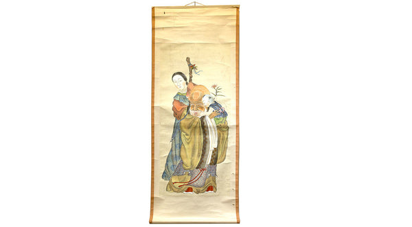 Scroll with Fukurokuju