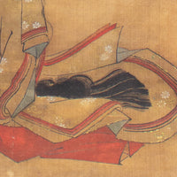 Japanese Antique Scroll Portrait of Woman