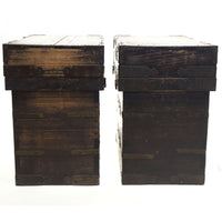 Pair of Peddler's Boxes Japanese Antique Storage Cabinet