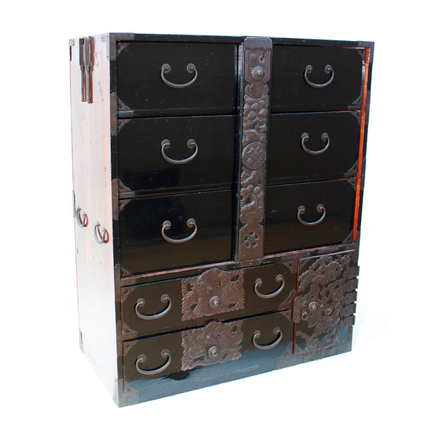 Clothing Chest from Tsuroka Japanese Antique Furniture Iron Hardware