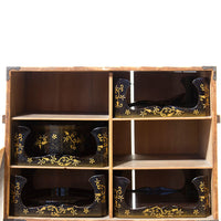 Lacquered Tray Box Japanese Antique Decor Chest