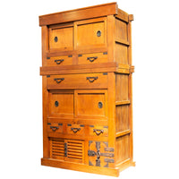 Kansai Merchant Chest Japanese Antique Furniture Cabinet