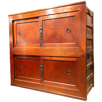 Japanese Antique (Late 19th Century) 6' Futon Chest | Large Chest, Cabinet, Storage, Furniture