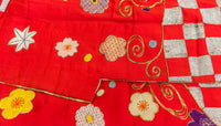 floral embroidery on the front of kimono