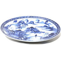 Blue and White Plate  Japanese Ceramic Art