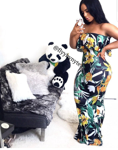 Plus Size RAVE Contrast Jumpsuit in Black and White
