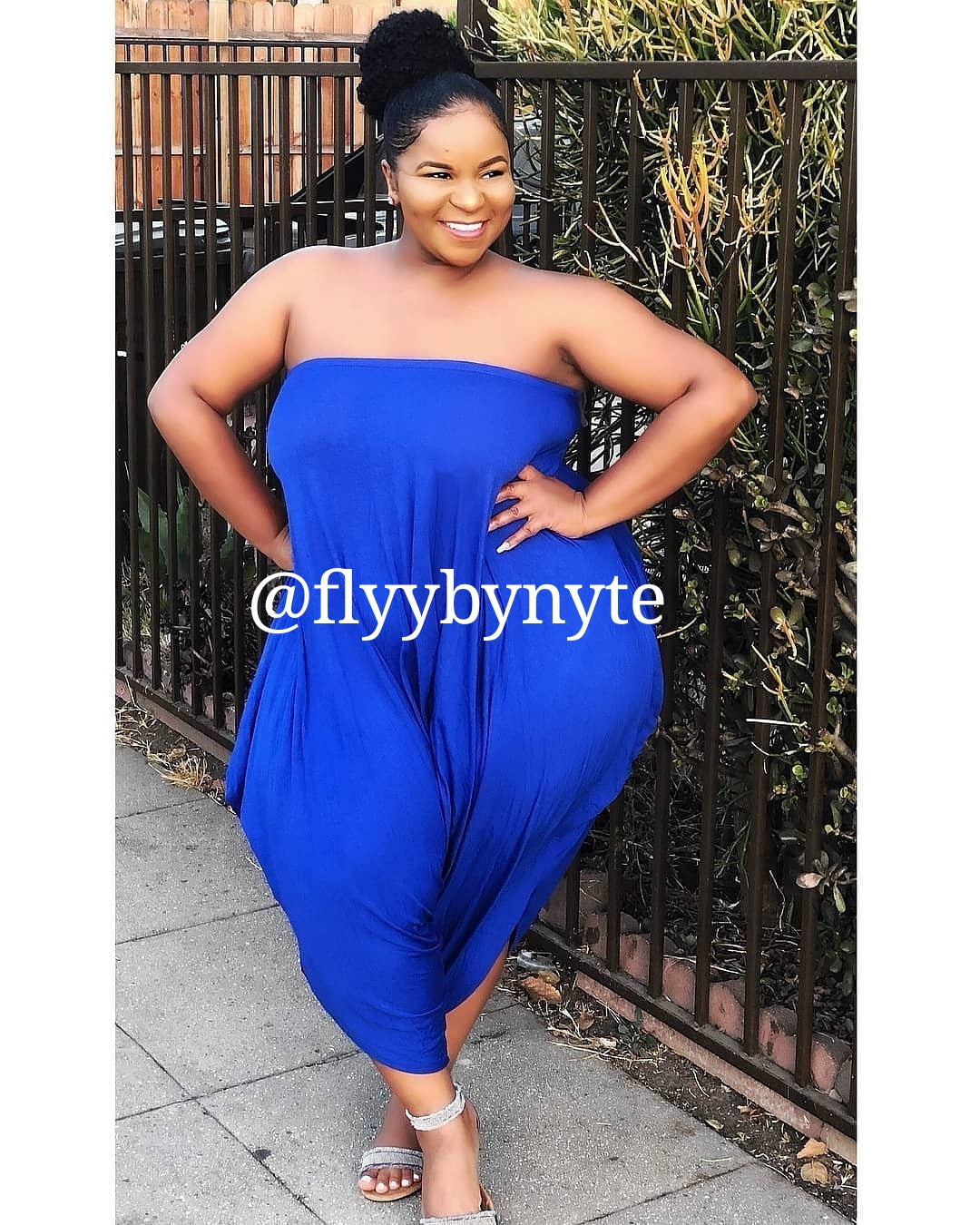 d7f2818455e Final Sale Women s Plus Size ROYALTY Sleeveless Jumpsuit in Royal Blue