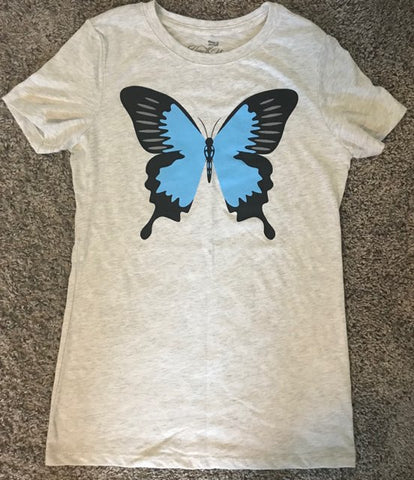 Flyy By Nyte Women's Red Butterfly Tee
