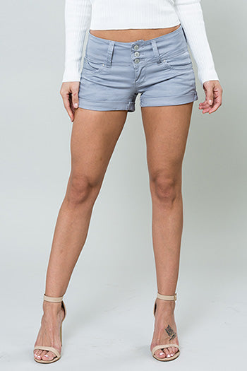 Women's SKYY GRAY Cuffed Shorts - Flyy By Nyte