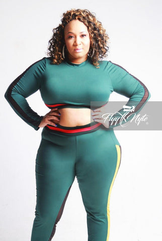 New Plus Size GET IT 2-Piece Track Suit in Royal Blue Pink Red and Yellow
