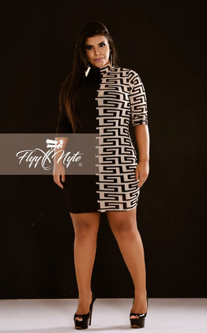 Plus Size Strapless Maxi Dress in Black and White Stripes