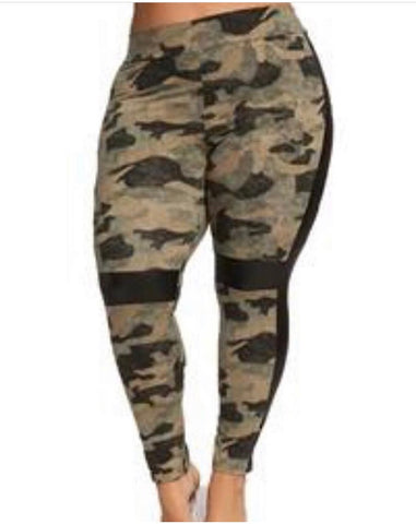 New Plus Size Graffiti Jogger Pants