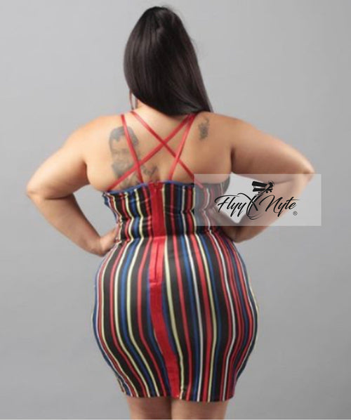 Plus Size Bodycon Mini in Multi Colors