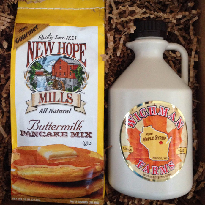 Maple Syrup & Pancake Mix Gift Box